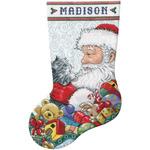 "17"" Long 14 Count - Santa & Kitten Stocking Counted Cross Stitch Kit"