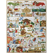 """16""""X21"""" 14 Count - Oh Holy Night Counted Cross Stitch Kit"""