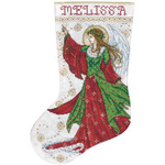 "17"" Long 14 Count - Angel Of Joy Stocking Counted Cross Stitch Kit"