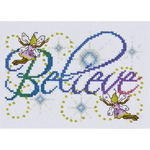 """5""""X7"""" 14 Count - Believe Counted Cross Stitch Kit"""