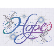 "5""X7"" 14 Count - Hope Counted Cross Stitch Kit"