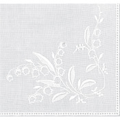 "Lily Of The Valley White - Cotton Handkerchief 9-1/2""X9-1/2"""