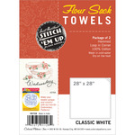 "White - Flour Sack Towels 28""X28"" 2/Pkg"