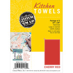 "Cherry Red - Hemmed Color Dyed Kitchen Towels 18""X28"" 2/Pkg"