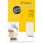 "Natural - Stitch 'Em Up Dish Towels 18""X28"" 2/Pkg"
