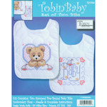 "8""X10"" Set Of 2 - Bedtime Prayer Boy Bib Pair Stamped Cross Stitch Kit"