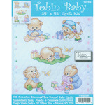 "34""X43"" - Baby Bears Quilt Stamped Cross Stitch Kit"