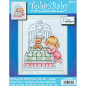 """11""""X14"""" 14 Count - Bedtime Prayer Girl Birth Record Counted Cross Stitch Kit"""
