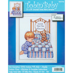 """11""""X14"""" 14 Count - Bedtime Prayer Boy Birth Record Counted Cross Stitch Kit"""