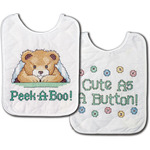 "8""X10"" Set Of 2 - Under The Covers Bib Pair Stamped Cross Stitch Kit"