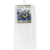 "White/White - Kitchen Mates Hemmed Towel 15""X25"""