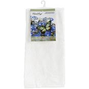 """White/White - Kitchen Mates Hemmed Towel 15""""X25"""""""