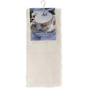"Ecru - Home Dec Check Towel 16""X26"""