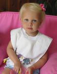 """White - Pullover Velour Toddler Bib 12""""X11-1/2"""""""