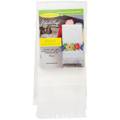 "White - Maxton Velour Guest Towel 12""X19-1/2"""