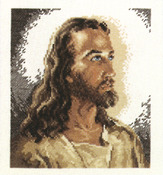 "6-7/8""X7-3/4"" 14 Count - Portrait Of Christ Counted Cross Stitch Kit"