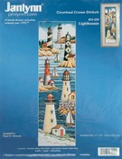 "6""X21"" 14 Count - Lighthouses Counted Cross Stitch Kit"