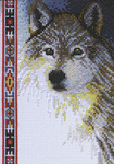 "5""X7"" 14 Count - Wolf Wildlife Mini Counted Cross Stitch Kit"