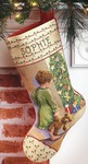 "18"" Long 14 Count - Christmas Morning Stocking Counted Cross Stitch Kit"