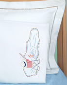 Fisher Boy - Children's Stamped Pillowcase With White Perle Edge 1/Pkg
