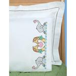 Noah's Ark - Children's Stamped Pillowcase With White Perle Edge 1/Pkg