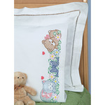 Children's Stamped Pillowcase With White Perle Edge 1/Pkg - Now I Lay Me Down To