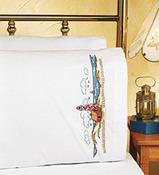 "20""X30"" - Lighthouse Pillowcase Pair Stamped Cross Stitch"