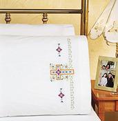"20""X30"" - Religious Cross Pillowcase Pair Stamped Cross Stitch"