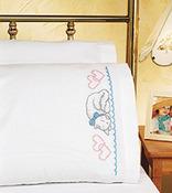 "20""X30"" - Kitty Pillowcase Pair Stamped Cross Stitch"