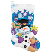 "18"" Long - Frosty's Favorite Ornament Stocking Felt Applique Kit"