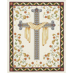 """8""""X10"""" 14 Count - His Cross Counted Cross Stitch Kit"""