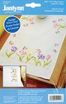 """14""""X35"""" - Tulip Garden Dresser Scarf Stamped Embroidery"""