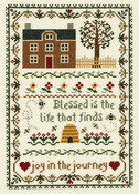 """7-3/4""""X11-1/4"""" 14 Count - Joy In The Journey Counted Cross Stitch Kit"""