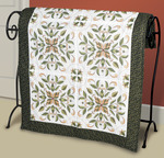 "15""X15"" 6/Pkg - Antique Foliage Quilt Blocks Stamped Cross Stitch"