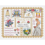 """13-1/4""""X10"""" 14 Count - Wedding Collage Counted Cross Stitch Kit"""