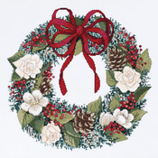 """14-1/4""""X14-1/4"""" 14 Count - Christmas Traditions Counted Cross Stitch Kit"""