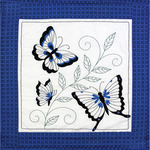 "15""X15"" 6/Pkg - Butterfly Quilt Blocks Stamped Embroidery"