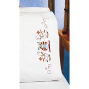 "20""X30"" - Owl Pillowcase Pair Stamped Cross Stitch"