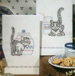 Kittens - Stamped Kitchen Towels For Embroidery