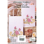Floral Scroll - Stamped Kitchen Towels For Embroidery