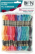 Variegated Colors - Cotton Embroidery Floss Pack 8.7 Yards 36/Pkg