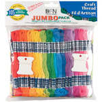 Craft Thread Jumbo Pack 9.14 Meters 105/Pkg - Assorted Colors