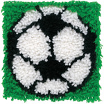 "Soccer - Wonderart Latch Hook Kit 8""X8"""