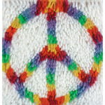"Peace - Wonderart Latch Hook Kit 8""X8"""