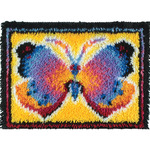 "Butterfly Fantasy - Wonderart Latch Hook Kit 15""X20"""