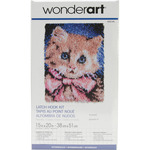 "Prize Kitty - Wonderart Latch Hook Kit 15""X20"""