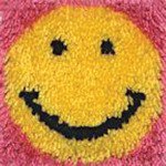 "Smile - Wonderart Latch Hook Kit 8""X8"""