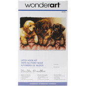 "Lab Puppies - Wonderart Latch Hook Kit 24""X34"""