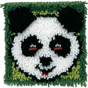 "Panda - Wonderart Latch Hook Kit 8""X8"""