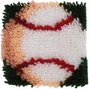 """Baseball - Wonderart Latch Hook Kit 8""""X8"""""""